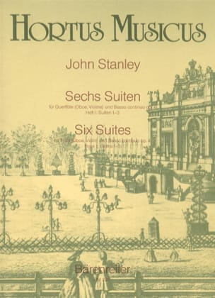 6 Suiten op. 4 - Heft 1 : Nr. 1-3 - Flöte Oboe, Violine u. Bc - laflutedepan.com