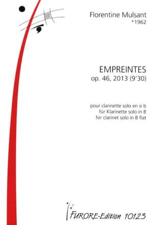 Empreintes, op. 46 Florentine Mulsant Partition laflutedepan