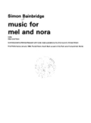 Music For Mel And Nora - Simon Bainbridge - laflutedepan.com