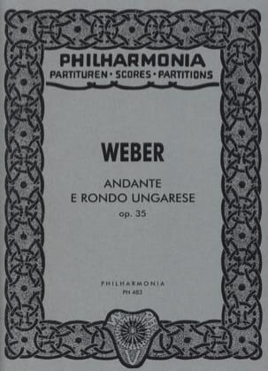 Andante e Rondo Ungarese op. 35 Carl Maria von Weber laflutedepan