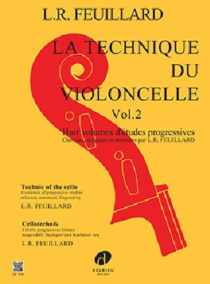 Technique du Violoncelle Volume 2 FEUILLARD Partition laflutedepan
