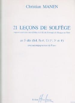 21 Leçons - 5 Clés A/A Christian Manen Partition laflutedepan