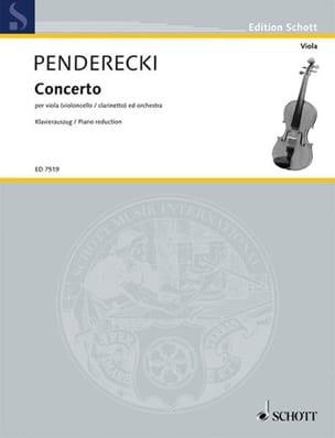 Concerto pour Alto PENDERECKI Partition Alto - laflutedepan