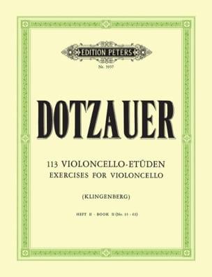 113 Violoncello Etüden - Heft 2 35-62 Friedrich Dotzauer laflutedepan