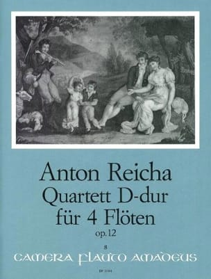 Quartett D-Dur op. 12 - 4 Flöten REICHA Partition laflutedepan