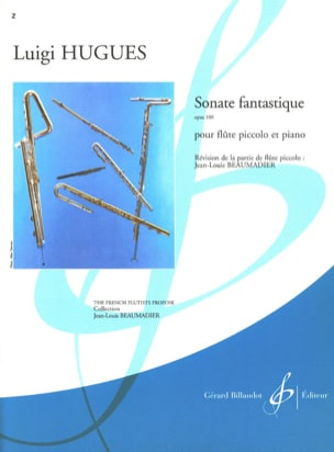Sonate fantastique op. 100 Luigi Hugues Partition laflutedepan