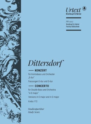 Concerto pour Contrebasse Carl Ditters Von Dittersdorf laflutedepan