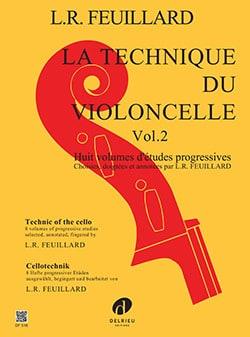 Technique du Violoncelle Volume 2 - FEUILLARD - laflutedepan.com