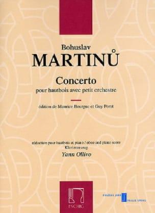 Concerto pour Hautbois et Petit Orchestre - MARTINU - laflutedepan.com