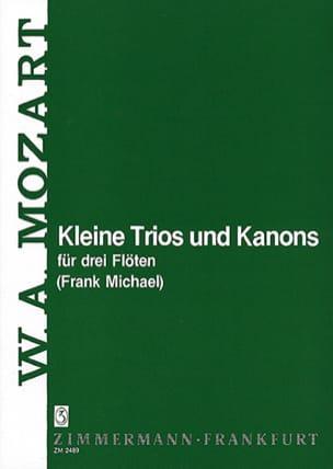Kleine Trios und Kanons - 3 Flöten MOZART Partition laflutedepan