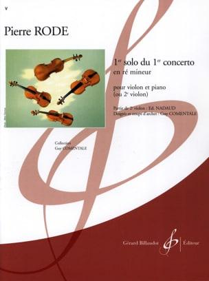 1er Solo du Concerto n° 1 en ré mineur Pierre Rode laflutedepan