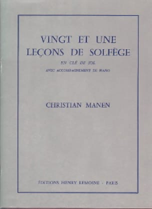 21 Leçons - Clé Sol - A/A - Christian Manen - laflutedepan.com