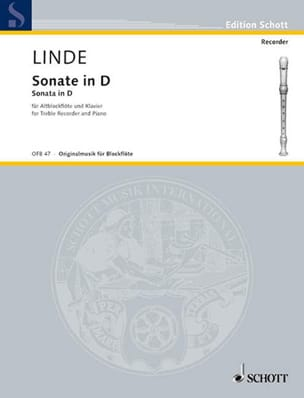 Sonate in D - Altblockflöte u. Klavier Hans-Martin Linde laflutedepan