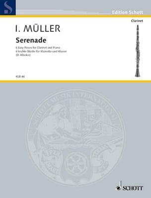 Sérénade - Clarinette et Piano Iwan Müller Partition laflutedepan