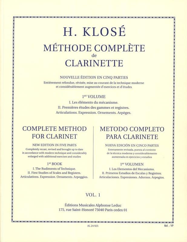 Méthode Complète de Clarinette Volume 1 - laflutedepan.com