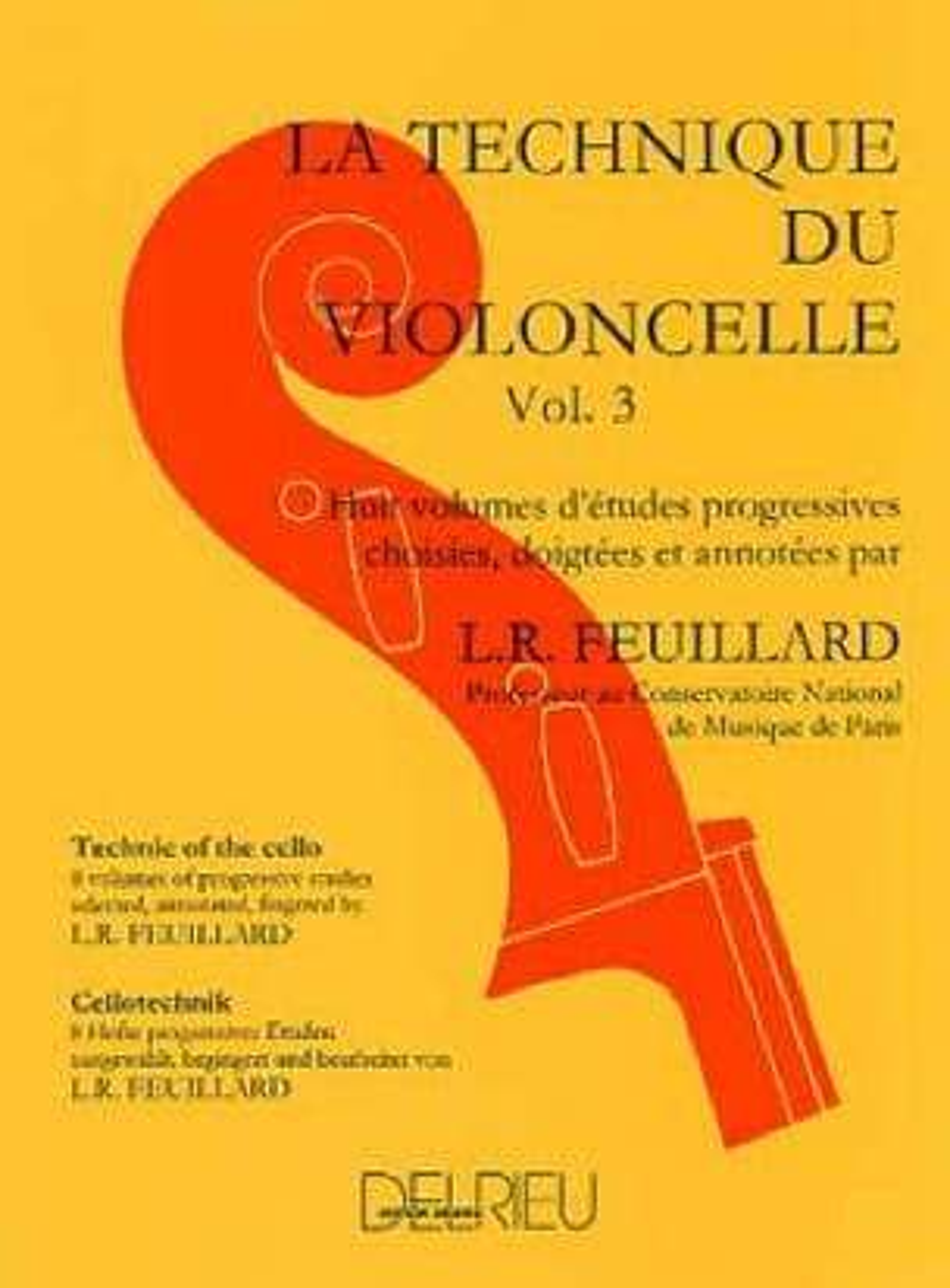 Technique du Violoncelle Volume 3 - FEUILLARD - laflutedepan.com