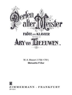 Menuetto F-Dur - Flöte Klavier - MOZART - Partition - laflutedepan.com