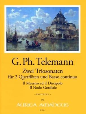 2 Trio-Sonates - TELEMANN - Partition - Trios - laflutedepan.com