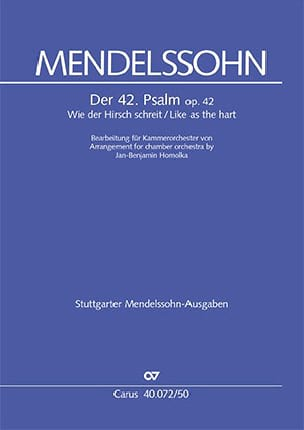 Psaume 42, opus 42 - Bartholdy Felix Mendelssohn - laflutedepan.com