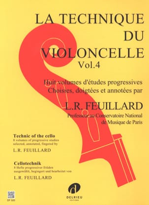 Technique du Violoncelle Volume 4 FEUILLARD Partition laflutedepan