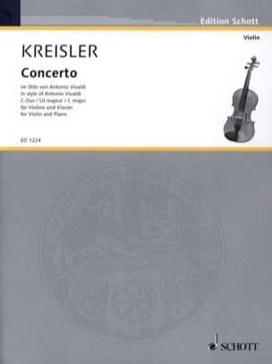Concerto Violon ut majeur KREISLER Partition Violon - laflutedepan