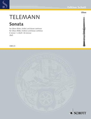 Sonate e-moll -Oboe Flöte, Violine und Bc TELEMANN laflutedepan