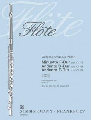 Minuetto KV 43 - Andante KV 48 u. 73 - 4 Flöten MOZART laflutedepan