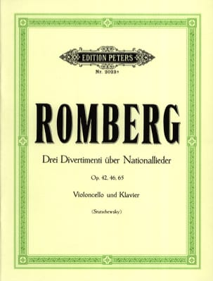 3 Divertimenti über Nationallieder ROMBERG Partition laflutedepan