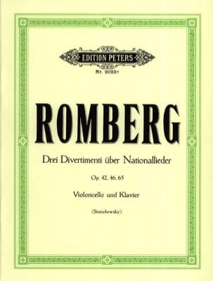 Bernhard Romberg - 3 Divertimenti über Nationallieder - Partition - di-arezzo.co.uk