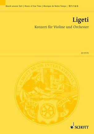 Konzert für Violine und Orchester -Partitur LIGETI laflutedepan