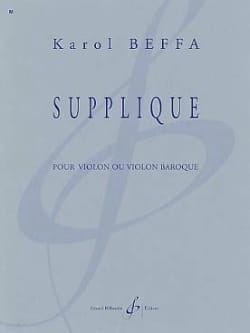 Supplique Karol Beffa Partition Violon - laflutedepan