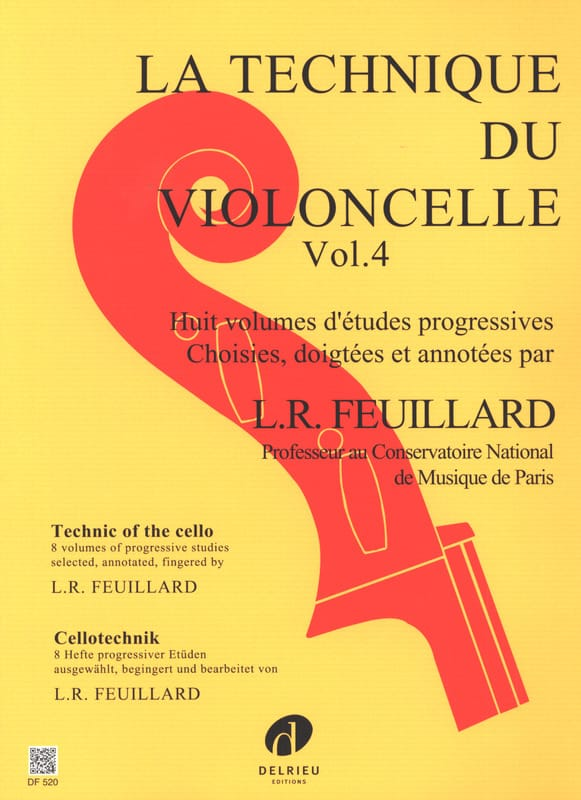 Technique du Violoncelle Volume 4 - FEUILLARD - laflutedepan.com