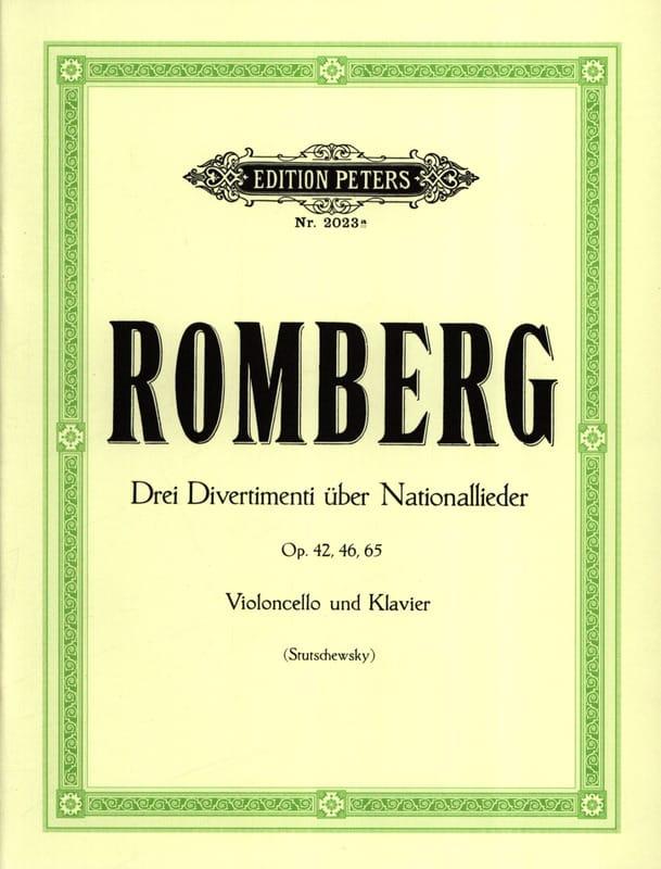 3 Divertimenti über Nationallieder - ROMBERG - laflutedepan.com