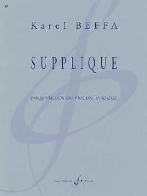 Supplique - Karol Beffa - Partition - Violon - laflutedepan.com
