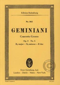 Concerto grosso B-Dur - Francesco Saverio Geminiani - laflutedepan.com
