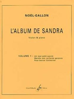 L' Album de Sandra Volume 1 Noël Gallon Partition laflutedepan