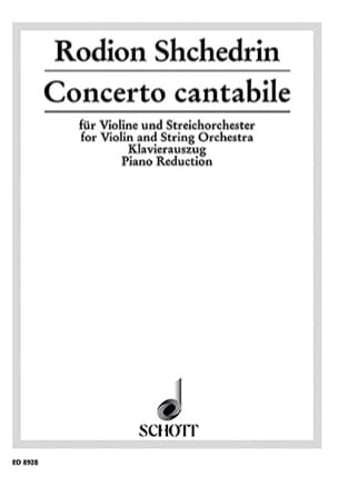 Concerto cantabile Rodion Shchedrin Partition Violon - laflutedepan