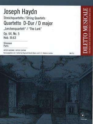HAYDN - Streichquartett D-Dur op. 64 n ° 5 - Stimmen - Partition - di-arezzo.com