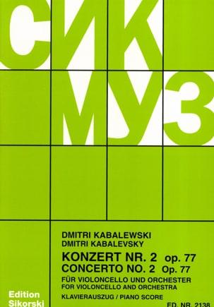 Concerto n° 2 op. 77 Dimitri Kabalevski Partition laflutedepan