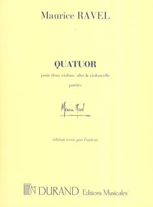 Quatuor à cordes -Parties RAVEL Partition Quatuors - laflutedepan