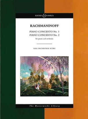 Concertos Piano n° 1 et 2 - Score RACHMANINOV Partition laflutedepan