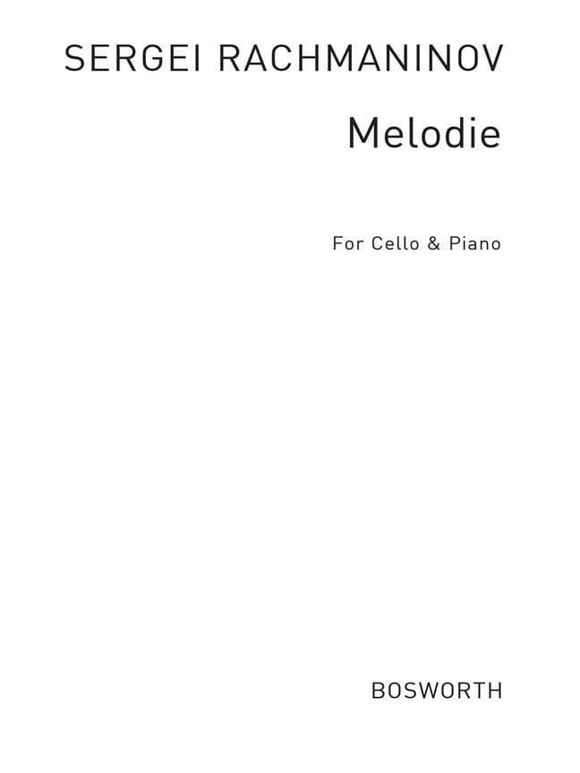 Melodie op. 3 n° 3 - RACHMANINOV - Partition - laflutedepan.com