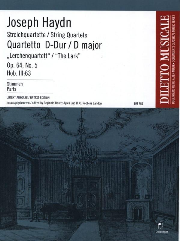 Streichquartett D-Dur op. 64 n° 5 -Stimmen - HAYDN - laflutedepan.com