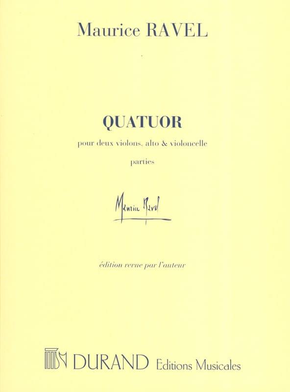 Quatuor à cordes -Parties - RAVEL - Partition - laflutedepan.com