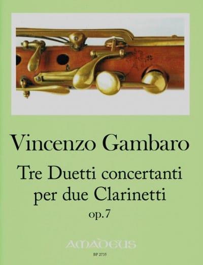 3 Duos Concertants, op. 7 - Vincenzo Gambaro - laflutedepan.com