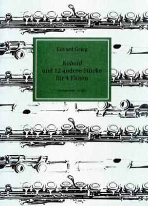 Kobold und 12 andere stücke für 4 Flöten GRIEG Partition laflutedepan