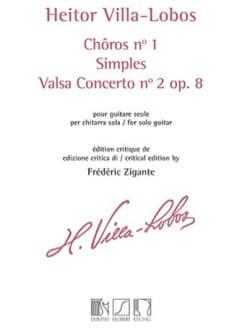 Heitor Villa-Lobos - Chôros No. 1 / Singles / Valsa Concerto No. 2 Op. 8 - Partition - di-arezzo.co.uk