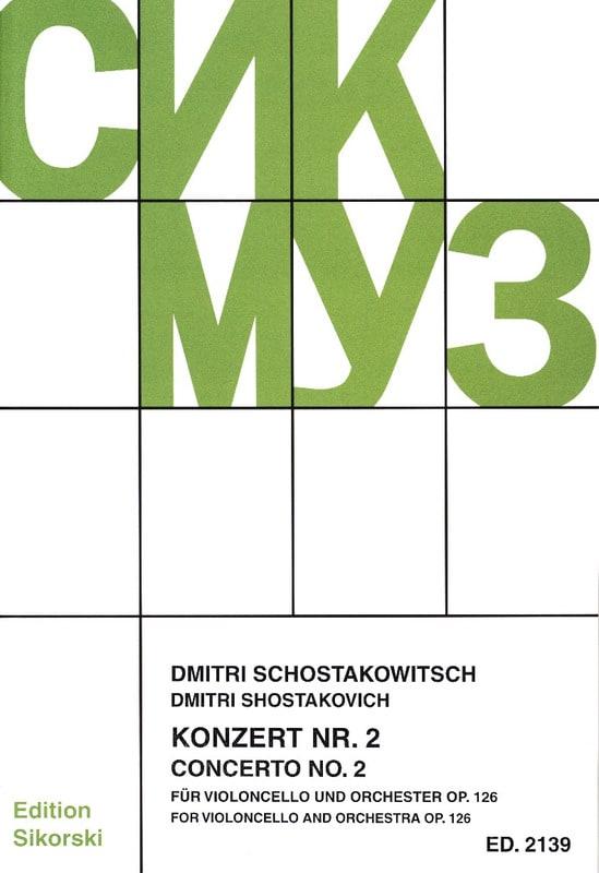 Concerto Violoncelle n° 2 op. 126 - CHOSTAKOVITCH - laflutedepan.com