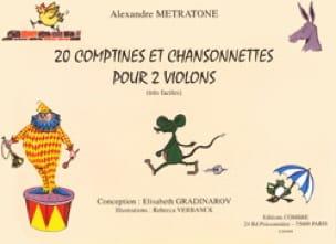 20 Comptines et Chansonnettes pour 2 violons - laflutedepan.com