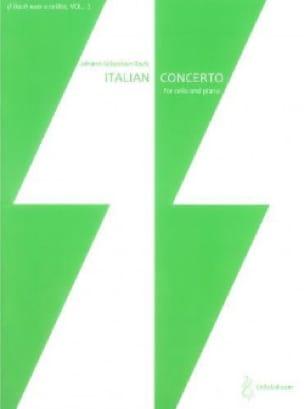Concerto Italien - BACH - Partition - Violoncelle - laflutedepan.com